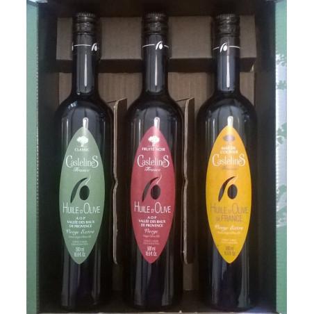 Coffret 3 bouteilles 500ml CLASSIC, MAS de l'OLIVIER, FRUITE NOIR