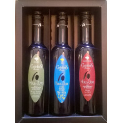 Coffret 3 bouteilles 250ml CLASSIC, FRUITE NOIR, AIL