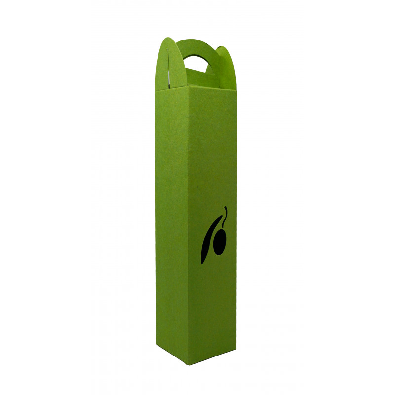 Emballage Cadeau / Coffret vert 1 bouteille 500ml