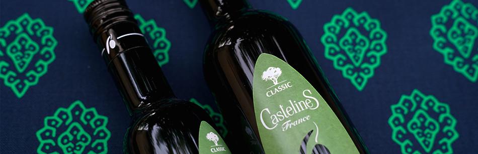 Huile d'Olive Vierge Extra fruité Vert Classic AOP Vallée des Baux de Provence Moulin CastelaS