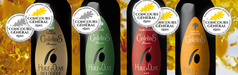 Huile d'Olive Vierge Noir d'Olive AOP Vallée des Baux de Provence moulin CastelaS