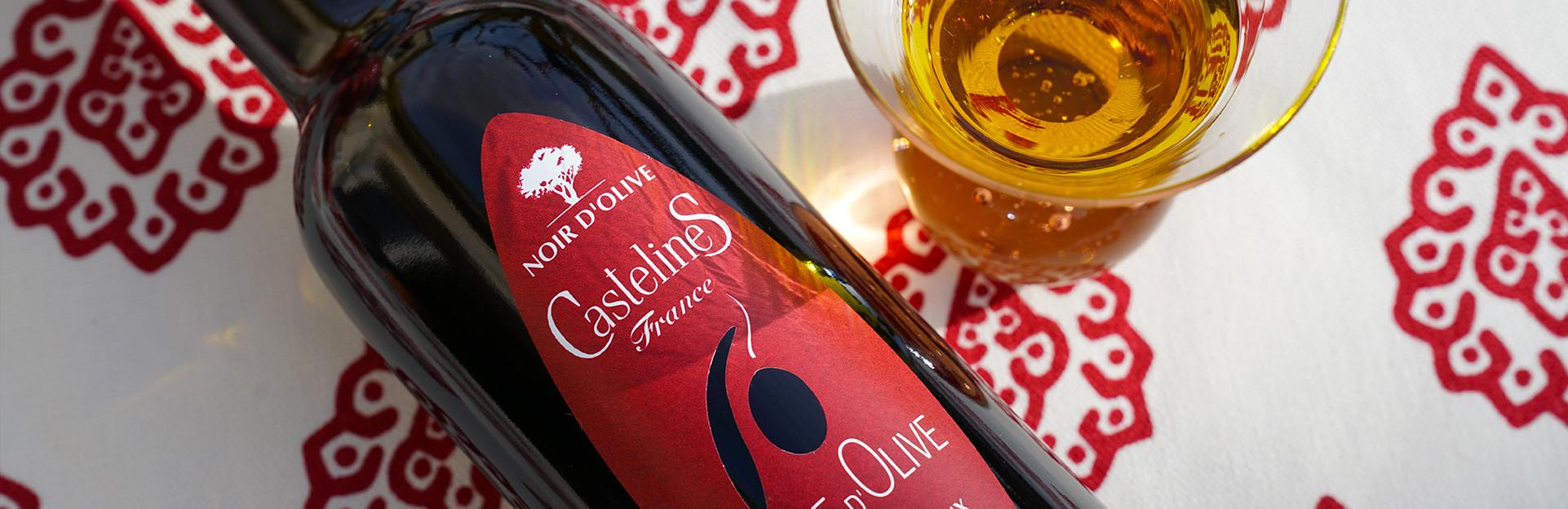Huile d'Olive Vierge fruité Noir AOP Vallée des Baux de Provence Moulin CastelaS